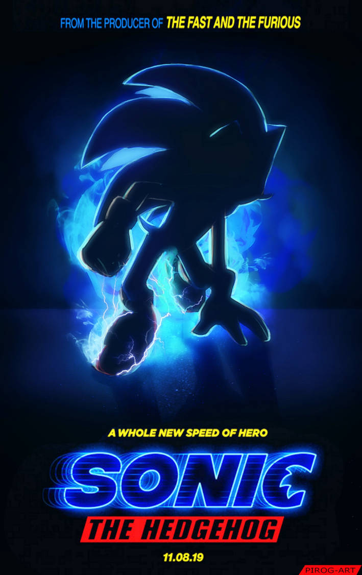 Sonic the Hedgehog Movie   I am redraw new poster by PiRoG-Art