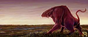 a beast roams the plains by nraminhos