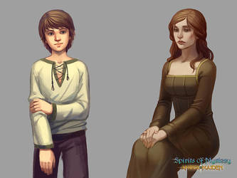 Amber Maiden characters by Okha