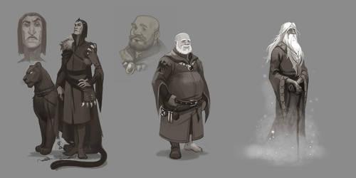 Three wizards by Okha