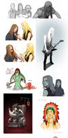 Metalocalypse Sketchdump by Okha