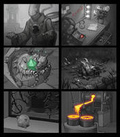 Zoom sketches for hidden object games (part 1/4) by Okha