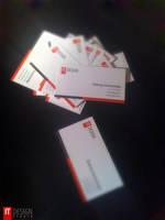 IT Design business card by taytel