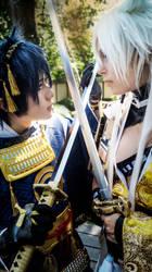 Kogitsunemaru and Jiji - fighting for you. by ShadowFox-Cosplay