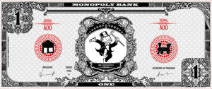 Monopoly bank note 1 poly by ironic440