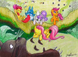 My Neighbor Totoro and Ponies by Invalid-David