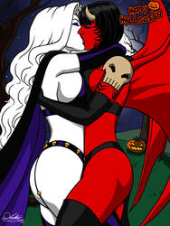 Happy Halloween 2018 [Lady Death x Purgatori] by Kaywest