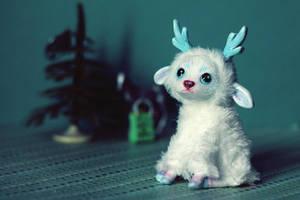 Art doll. Winter deer sold by RedFoxAlice