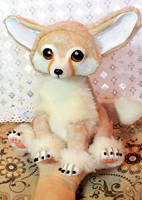 Art doll. Fennec fox. sold by RedFoxAlice