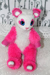 Sugary pink bear. Original Art Doll. sale by RedFoxAlice