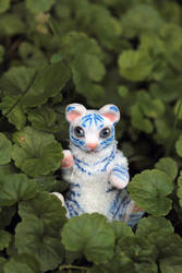 Little blue tiger. art doll by RedFoxAlice