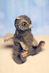 Gray griffin. Original Art Doll. ooak by RedFoxAlice
