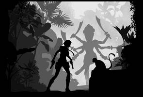 Tomb Raider III - Silhouette Art by ReD8ull