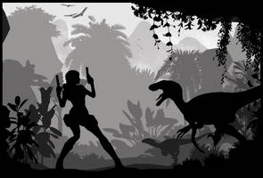 Tomb Raider I - Silhouette Art by ReD8ull