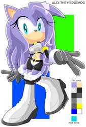 Alcii The Hedgehog (new sonic OC) by Jasie-Norko