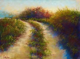 Autumn Walk | Pastel painting by Larisa12345
