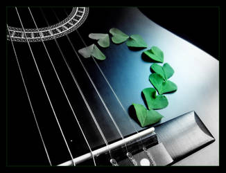Green hearts and Guitar by LimpidD