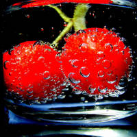 Red in bubbles by LimpidD