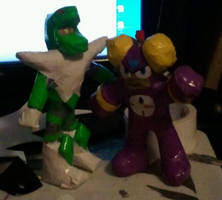 Snakeman and Timeman by DuctileCreations