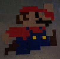 8-Bit Pixel Mario by DuctileCreations