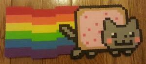 Nyan cat perler by DuctileCreations