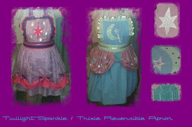 Twilight Sparkle / Trixie Reversible Apron by AlicornLover