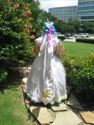 Princess Celestia Gown - Back by AlicornLover