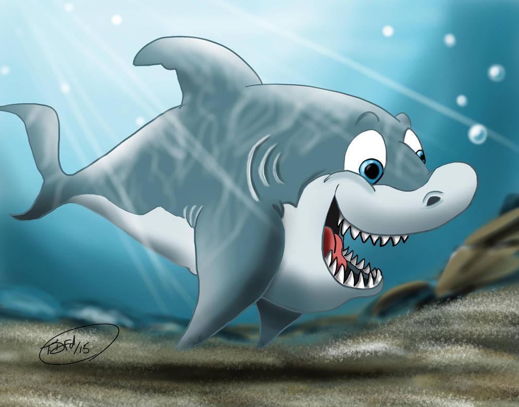 Скетчи, смешной рисунок акулы