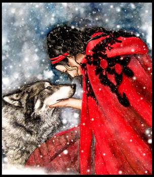 Amy Lee Wolf's Snow by ZhaoT