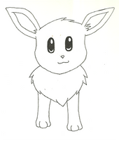 [SKTCH] Eevee Front View by IceeDaHedgehog