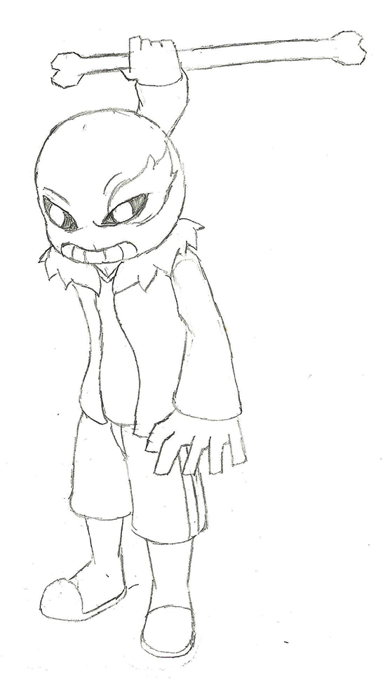 [SKTCH] Sans by IceeDaHedgehog