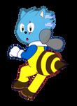 [FLAT] Bee Hedgie by IceeDaHedgehog