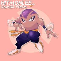 Kanto #106- Hitmonlee Qamor Form by Kakity