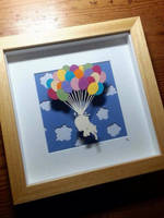 Light As A Feather - Original Papercut by PaperPandaCuts