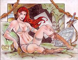 RED SONJA art by RODEL MARTIN (03262014) by rodelsm21