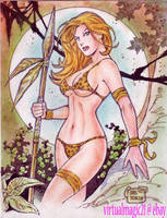 JUNGLE GIRL art by RODEL MARTIN (04072014) by rodelsm21