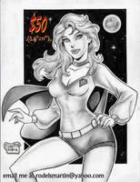 SUPERGIRL 70'S cartoony by Rodel Martin June 01 18 by rodelsm21