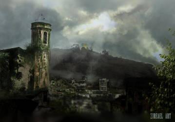 Town Left Behind p.2 by ZireaelArt