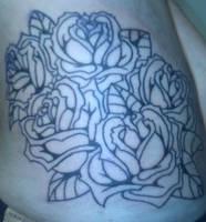 Roses WIP tattoo by Kiartia