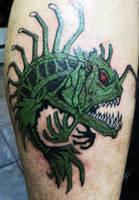 Angler fish tattoo by Kiartia