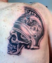 Centurion skull tattoo by Kiartia