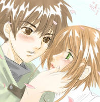 Syaoran and Sakura by Marimari999