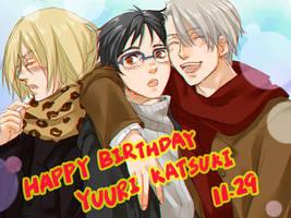 Yuri!!!On Ice - Yuuri Katsuki Birthday by Marimari999