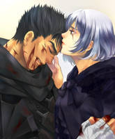 Commission -  Guts and OC Skuld by Marimari999
