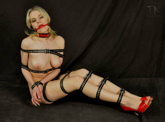 Using my Leather By Danny bondage straps 1 by tk9956