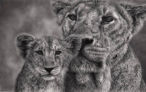 Lion Mother #2 by Bengtern