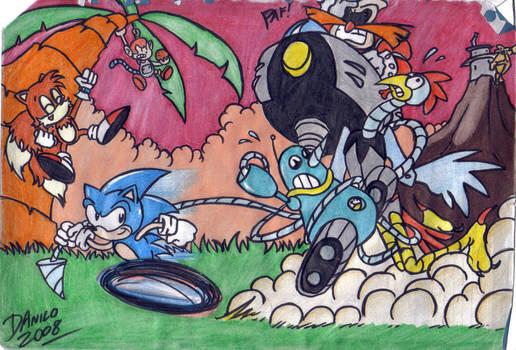 Sonic Cartoon by TheInsaneDarkOne
