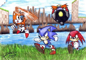 Sonic and friends by TheInsaneDarkOne