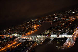 Flying over the dark city by 2ravens