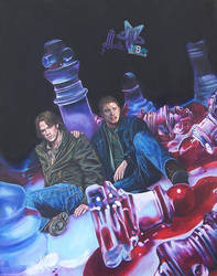chess      dean sam winchester by natira